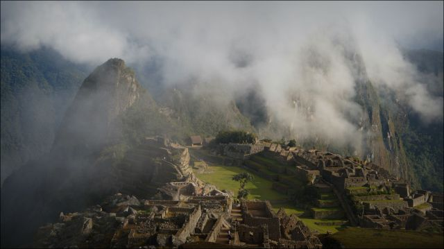Machu Picchu engulfed by the clouds Photo by Flavio Moy, HealerShaman.com