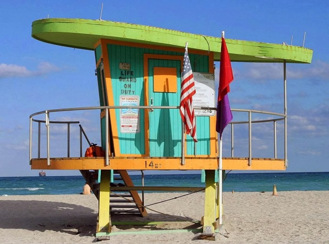 lifeguard tower stand miami beach florida 15